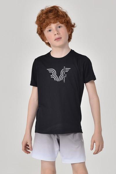 BİLCEE - Bilcee Siyah Erkek Çocuk T-Shirt GS-8143
