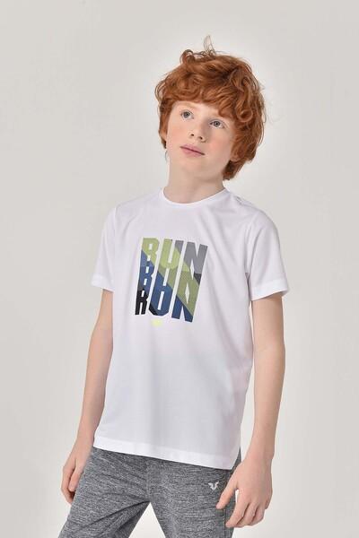 BİLCEE - Bilcee Beyaz Erkek Çocuk T-Shirt GS-8144 (1)