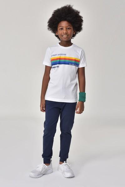 BİLCEE - Bilcee Beyaz Unisex Çocuk T-Shirt GS-8145 (1)