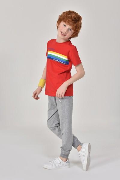 BİLCEE - Bilcee Kırmızı Unisex Çocuk T-Shirt GS-8145 (1)