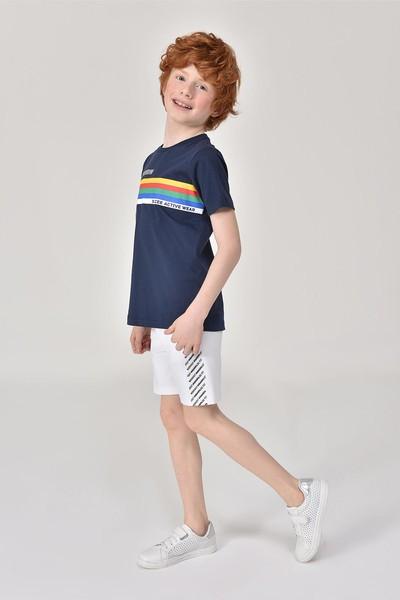 BİLCEE - Bilcee Lacivert Unisex Çocuk T-Shirt GS-8145 (1)
