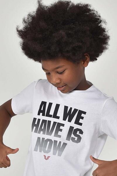 BİLCEE - Bilcee Beyaz Erkek Çocuk T-Shirt GS-8146 (1)