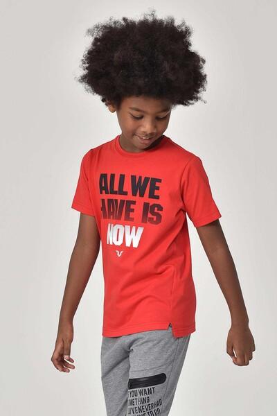 BİLCEE - Bilcee Kırmızı Erkek Çocuk T-Shirt GS-8146 (1)
