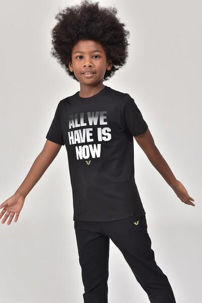 BİLCEE - Bilcee Siyah Erkek Çocuk T-Shirt GS-8146 (1)