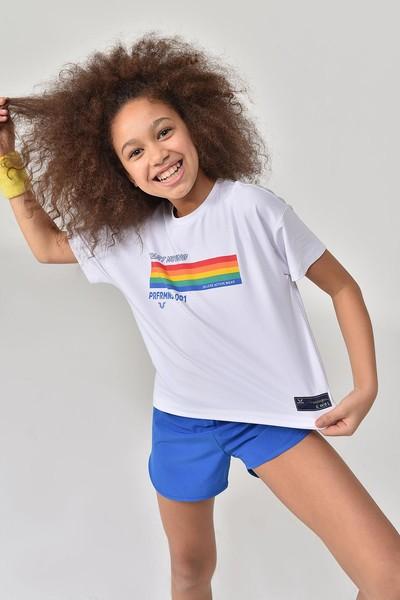 BİLCEE - Bilcee Beyaz Kız Çocuk T-Shirt GS-8150