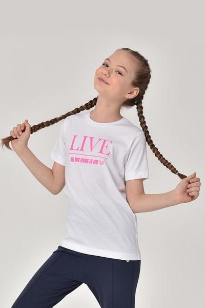 BİLCEE - Bilcee Beyaz Kız Çocuk T-Shirt GS-8151