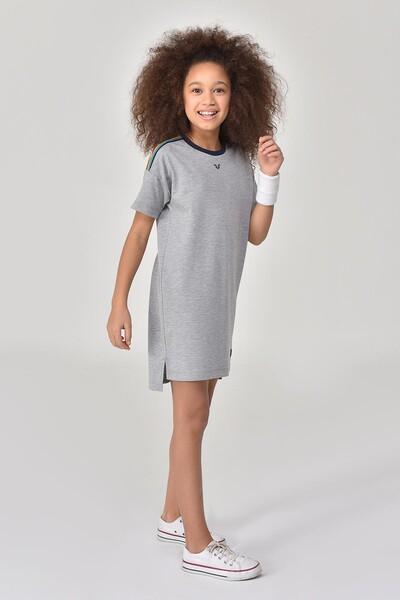 BİLCEE - Bilcee Gri Kız Çocuk Elbise GS-8152 (1)
