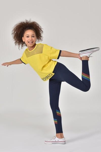 BİLCEE - Bilcee Lacivert Kız Çocuk Tayt GS-8156
