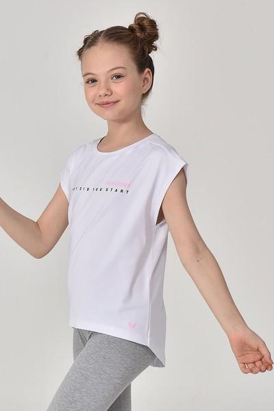 BİLCEE - Bilcee Beyaz Kız Çocuk T-Shirt GS-8158