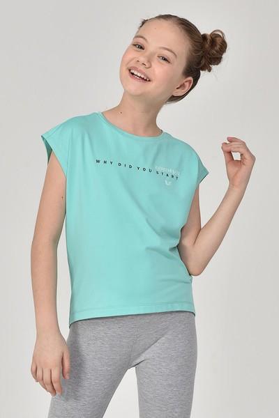 BİLCEE - Bilcee Turkuaz Kız Çocuk T-Shirt GS-8158