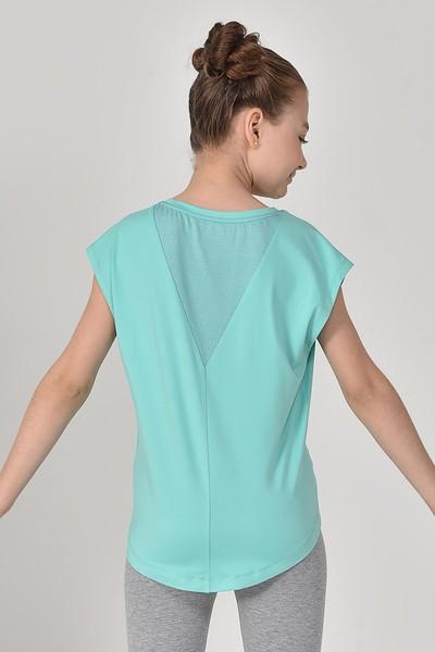 BİLCEE - Bilcee Turkuaz Kız Çocuk T-Shirt GS-8158 (1)