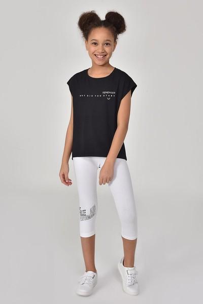 BİLCEE - Bilcee Siyah Kız Çocuk T-Shirt GS-8158