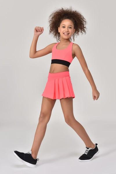BİLCEE - Bilcee Turuncu Kız Çocuk Sporcu Sütyeni GS-8160 (1)