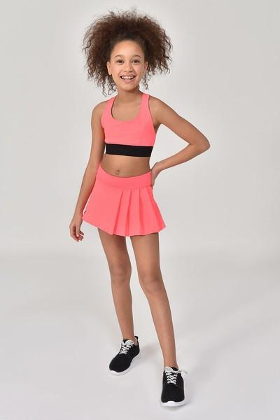 BİLCEE - Bilcee Turuncu Kız Çocuk Şort Etek GS-8161 (1)