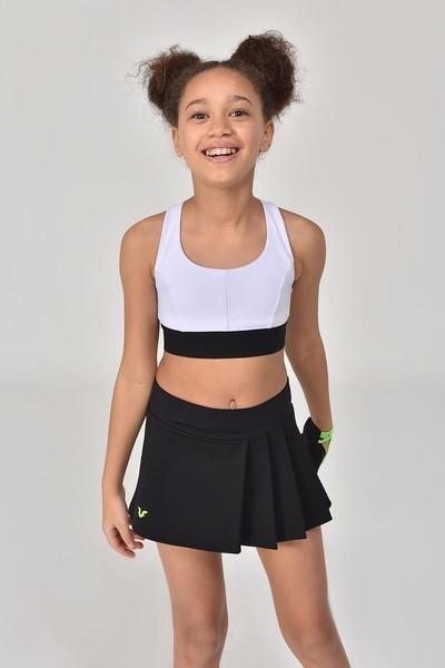 BİLCEE - Bilcee Siyah Kız Çocuk Şort Etek GS-8161 (1)