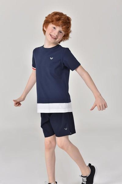 - Bilcee Lacivert Erkek Çocuk T-Shirt GS-8163 (1)