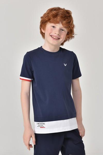 BİLCEE - Bilcee Lacivert Erkek Çocuk T-Shirt GS-8163