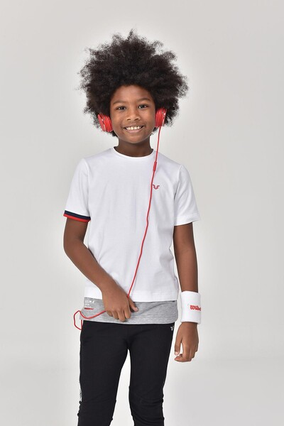 BİLCEE - Bilcee Beyaz Erkek Çocuk T-Shirt GS-8163 (1)