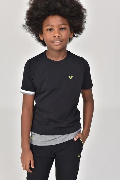 BİLCEE - Bilcee Siyah Erkek Çocuk T-Shirt GS-8163