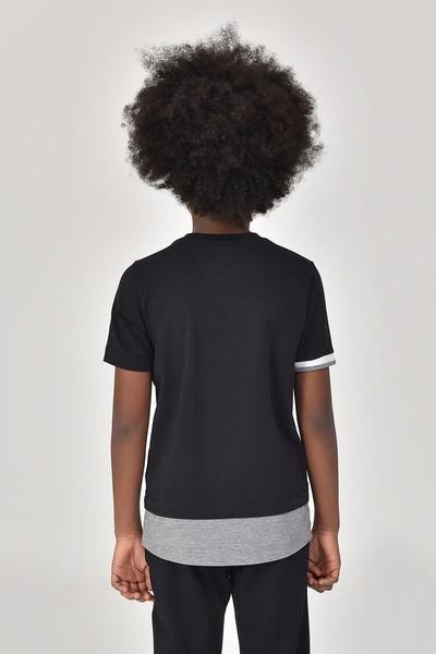 BİLCEE - Bilcee Siyah Erkek Çocuk T-Shirt GS-8163 (1)