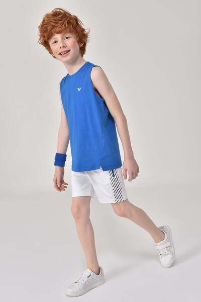 Bilcee Mavi Erkek Çocuk Atlet GS-8164