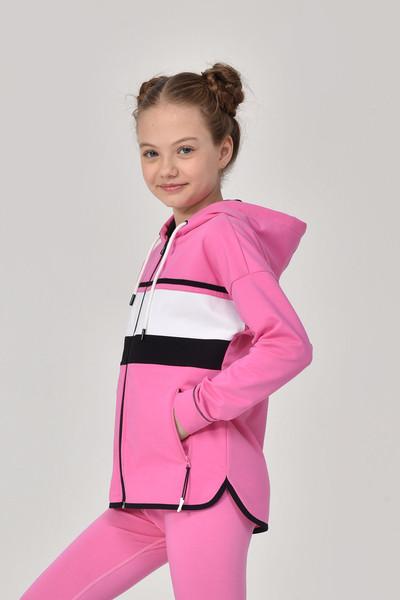 BİLCEE - Bilcee Pembe Kız Çocuk Eşofman Üstü GS-8170