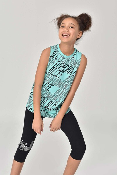BİLCEE - Bilcee Turkuaz Kız Çocuk Atlet GS-8173 (1)
