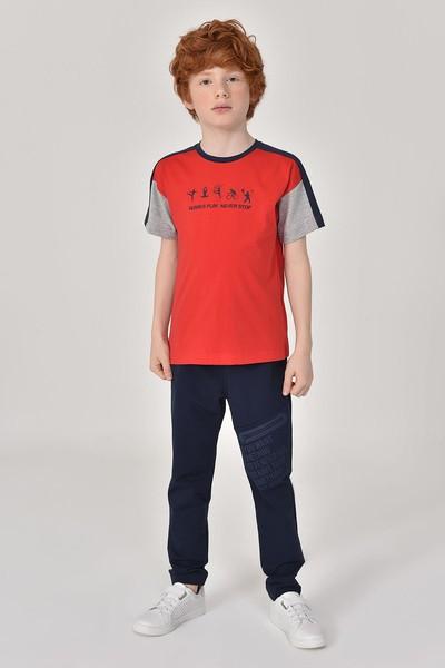 BİLCEE - Bilcee Kırmızı Erkek Çocuk T-Shirt GS-8178 (1)