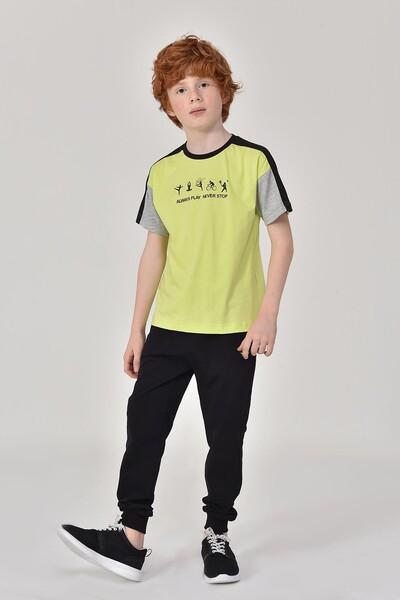BİLCEE - Bilcee A.Yeşil Erkek Çocuk T-Shirt GS-8178 (1)
