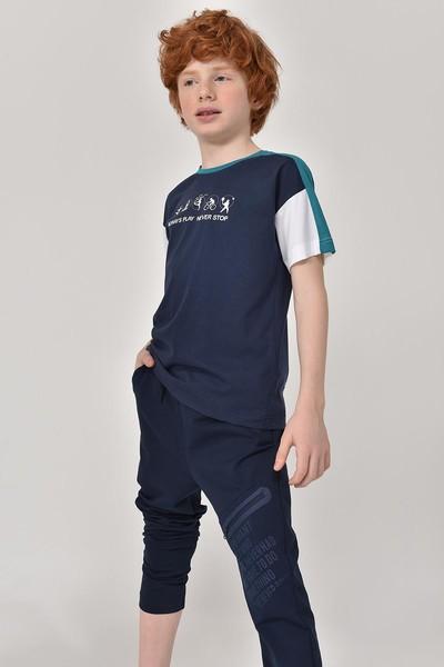 BİLCEE - Bilcee Lacivert Erkek Çocuk T-Shirt GS-8178 (1)