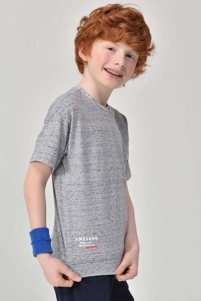 BİLCEE - Bilcee Gri Unisex Çocuk T-Shirt GS-8179 (1)