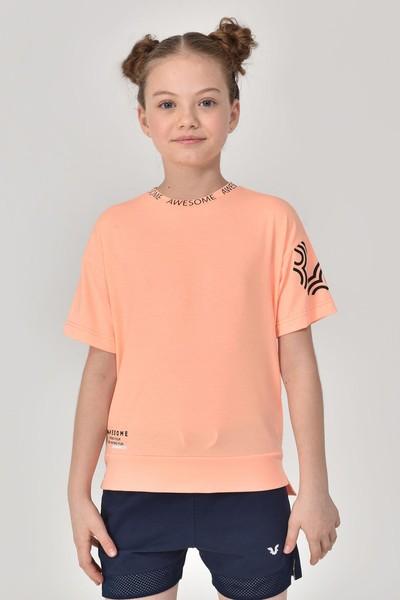 BİLCEE - Bilcee A.Turuncu Unisex Çocuk T-Shirt GS-8179