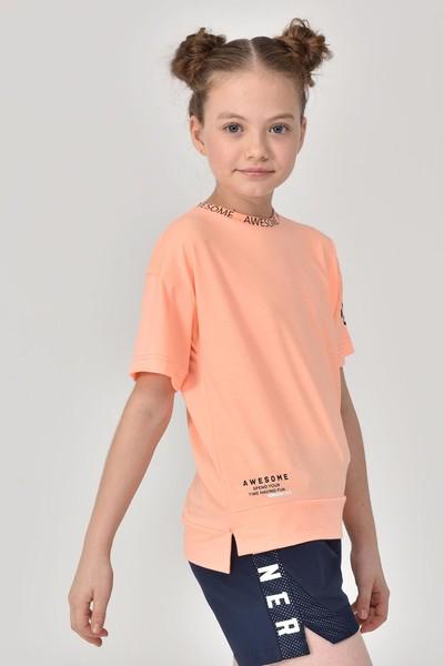 BİLCEE - Bilcee A.Turuncu Unisex Çocuk T-Shirt GS-8179 (1)