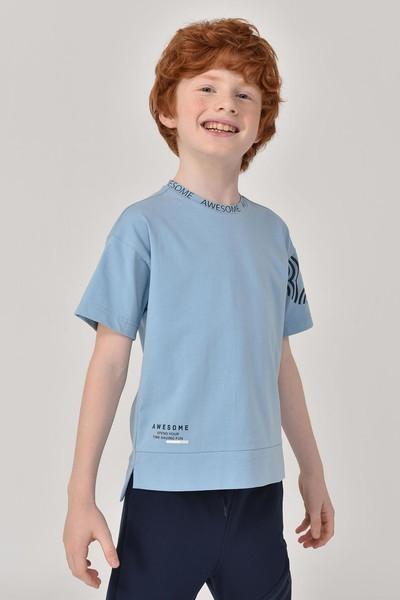 BİLCEE - Bilcee A.Mavi Unisex Çocuk T-Shirt GS-8179