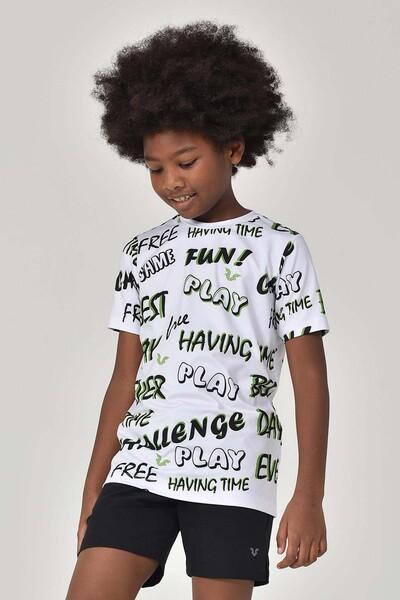 BİLCEE - Bilcee A.Yeşil Unisex Çocuk T-Shirt GS-8182 (1)