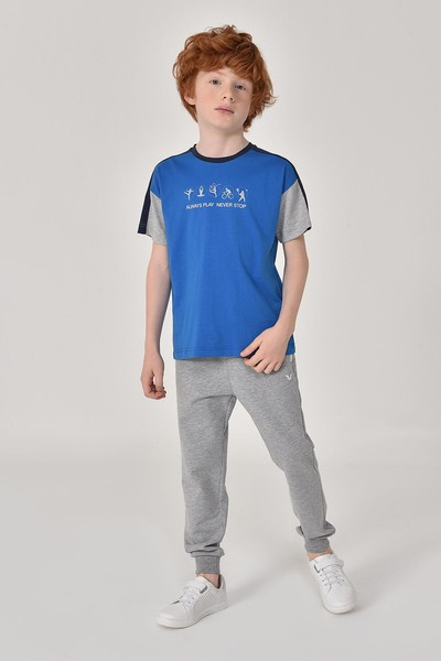 BİLCEE - Bilcee Gri Erkek Çocuk Pantolon GS-8184 (1)