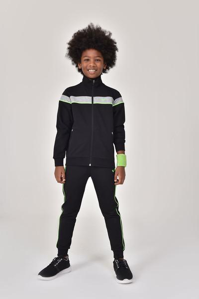 BİLCEE - Bilcee Siyah Erkek Çocuk Eşofman Üstü GS-8188