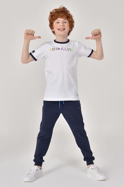 BİLCEE - Bilcee Beyaz Unisex Çocuk T-Shirt GS-8192 (1)