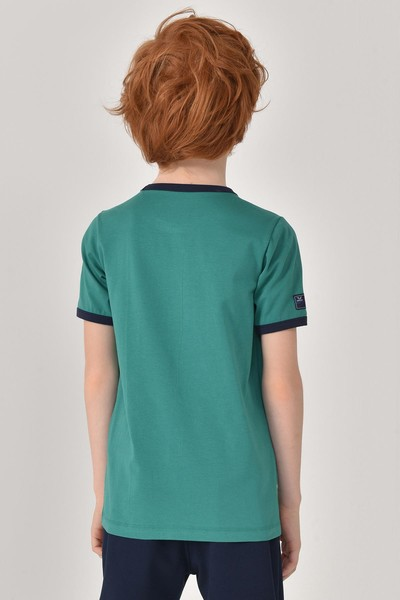 BİLCEE - Bilcee Yeşil Unisex Çocuk T-Shirt GS-8192 (1)