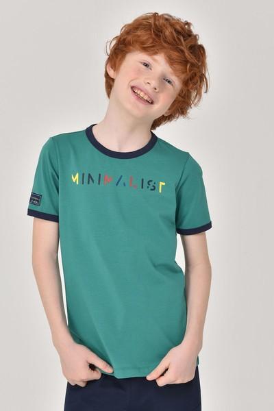 BİLCEE - Bilcee Yeşil Unisex Çocuk T-Shirt GS-8192
