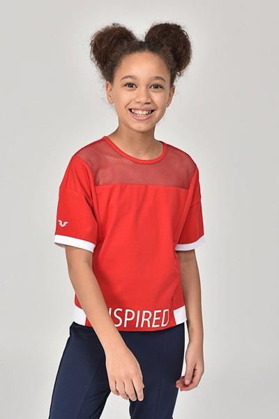 - Bilcee Kırmızı Kız Çocuk T-Shirt GS-8193