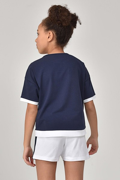 - Bilcee Lacivert Kız Çocuk T-Shirt GS-8193 (1)