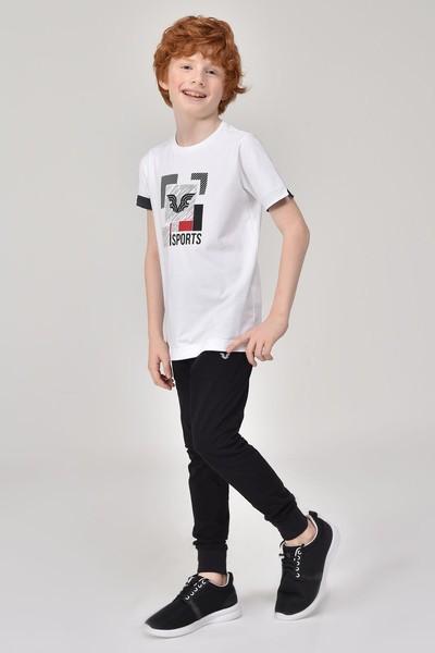 BİLCEE - Bilcee Beyaz Erkek Çocuk T-Shirt GS-8194 (1)