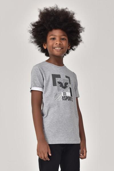 BİLCEE - Bilcee Gri Erkek Çocuk T-Shirt GS-8194