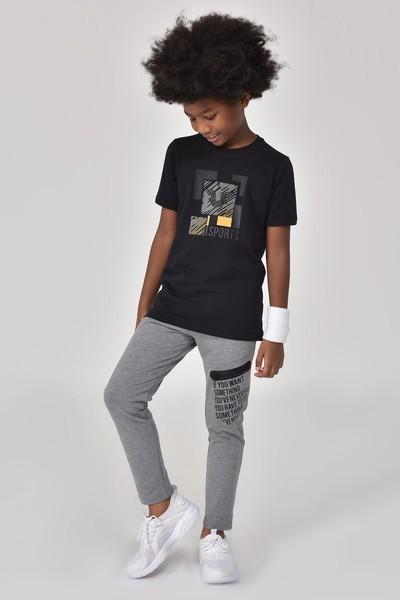 BİLCEE - Bilcee Siyah Erkek Çocuk T-Shirt GS-8194 (1)