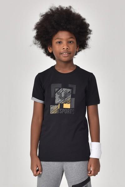 BİLCEE - Bilcee Siyah Erkek Çocuk T-Shirt GS-8194