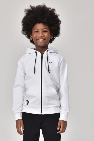 BİLCEE - Bilcee Beyaz Unisex Çocuk Eşofman Üstü GS-8195