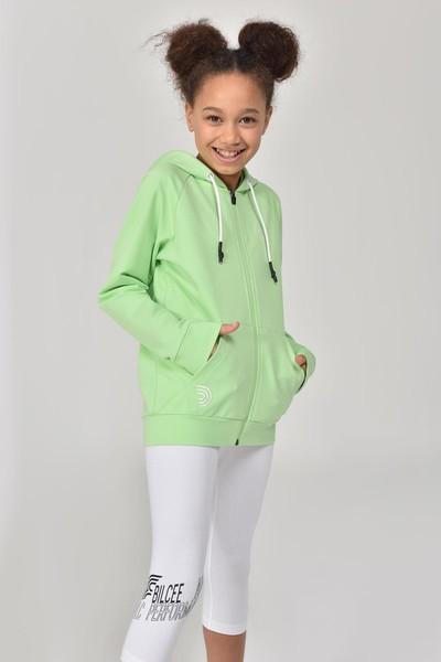 BİLCEE - Bilcee A.Yeşil Unisex Çocuk Eşofman Üstü GS-8195