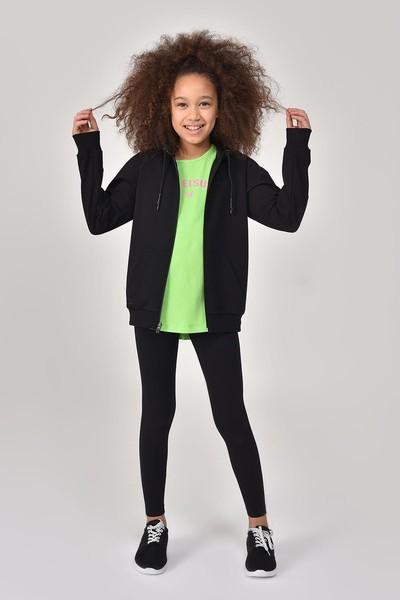 BİLCEE - Bilcee Siyah Kız Çocuk Tayt GS-8196 (1)