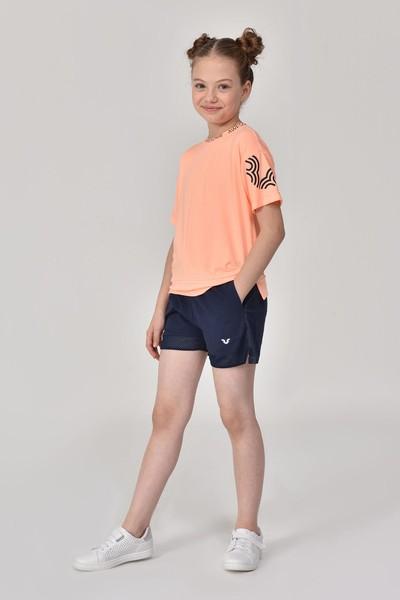 BİLCEE - Bilcee Lacivert Kız Çocuk Şort GS-8198 (1)